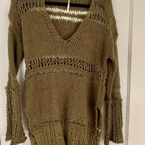 Free People Size Small Green Sweater